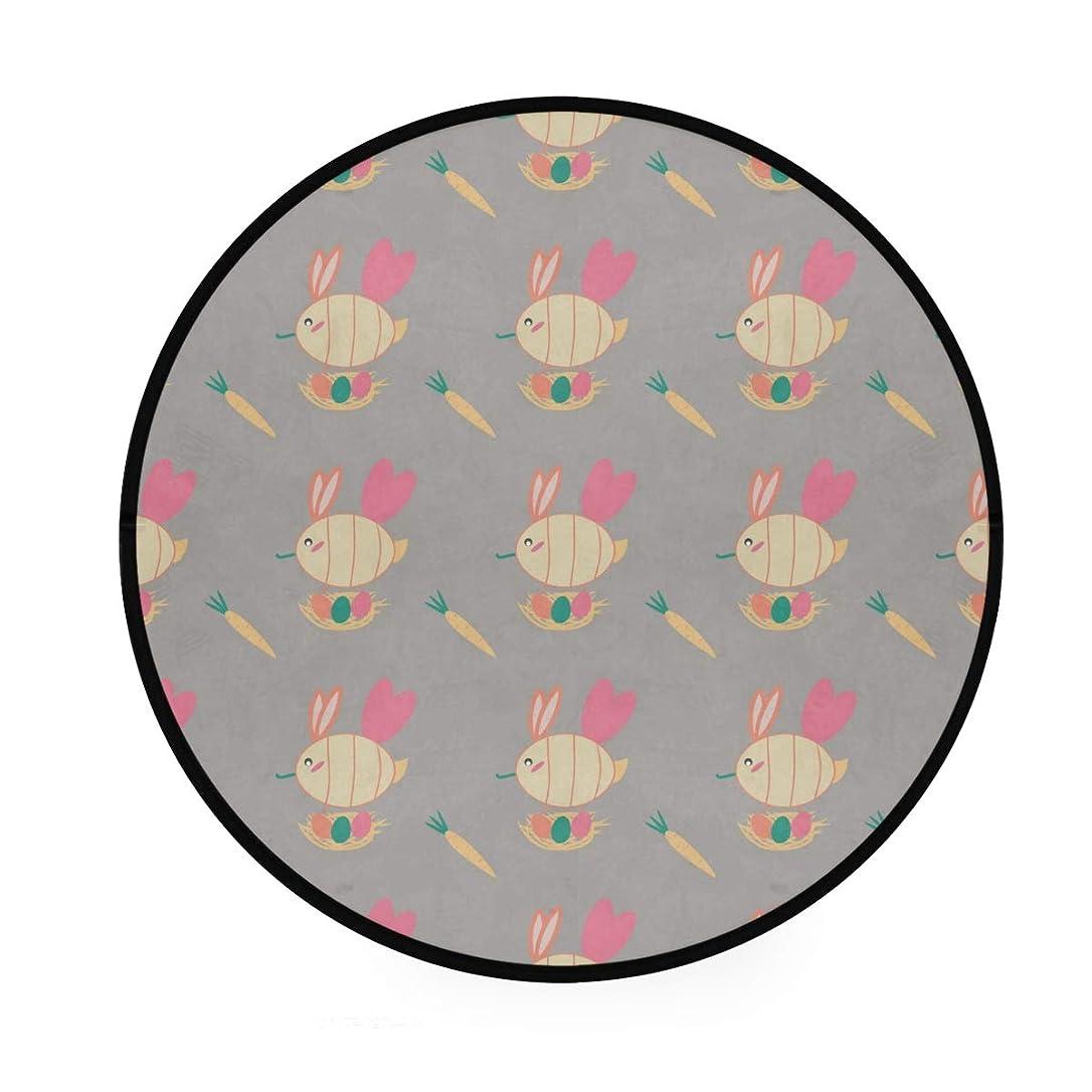 知覚眼マングルラウンドマット 鳥柄 円形マット 滑り止めのカーペットの丸い部屋 高級 丸いラグ 円形 リビング 子ども部屋 柔らかい エコ 防音 防カビ抗菌 オールシーズン使用 直径92cm