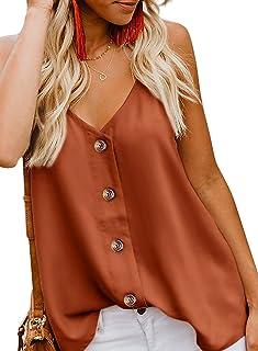 3fcba4c7af92 Amazon.es: Naranja - Blusas y camisas / Camisetas, tops y blusas: Ropa