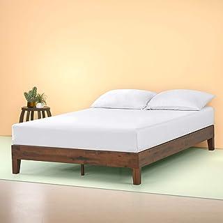 Zinus Marissa 12 Inch Deluxe Wood Platform Bed / No Box Spring Needed / Wood Slat Support / Antique Espresso Finish, Full