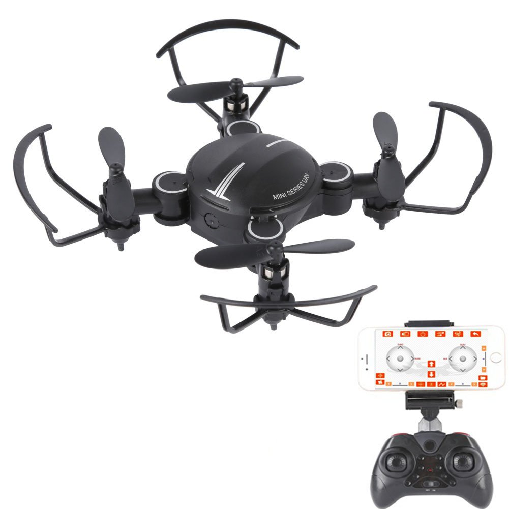 ESHOWEE WiFi FPV Drone with Camera, RC Quadcopter for Beginners with Altitude Hold, Gravity Sensor, RTF One Key Take Off/Landing Compatible 4 Channel 2.4GHz 6-Gyro Drone w/Customizable Route Mode