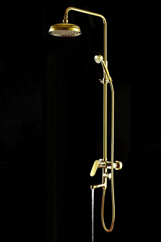 ZHFC-Sanitrkeramik Bad dusche Kupfer Titan Gold dusche Sprinkler - Anzug