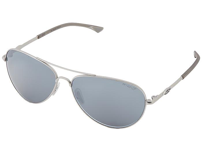 Audible (Matte Silver Frame/Polar Platinum Chromapop Lenses) Sport Sunglasses