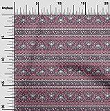oneOone Baumwoll-Popeline-Twill Stoff Ethnisch Block Gewebe