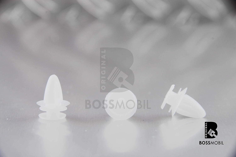 Original BOSSMOBIL kompatibel mit BEFESTIGUNG CLIPS HALTERUNG SPIEGEL T/ÜRVERKLEIDUNG ASTRA G 9032112 149910 IN WEI/ß #NEU# 12 X 11 X 6 mm Menge 3 St/ück