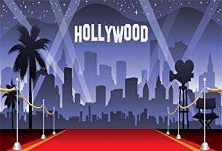 AOFOTO 7x5ft Hollywood Red Carpet Backdrop Movie Night Stage Photography Background Celebrity Event Party Premiere Banner Photo Studio Props Kid Adult Artistic Portrait Activity Decoration Wallpaper