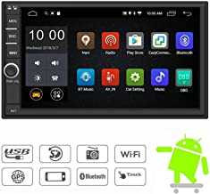 YODY Android 9.0 Double Din Car Stereo Radio 7 Inch Touch Screen in Dash GPS Navigation Support WiFi Bluetooth Mirror Link SWC OBD with Free Backup Camera