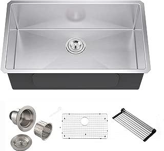 Best 33 inch single bowl undermount kitchen sink Reviews