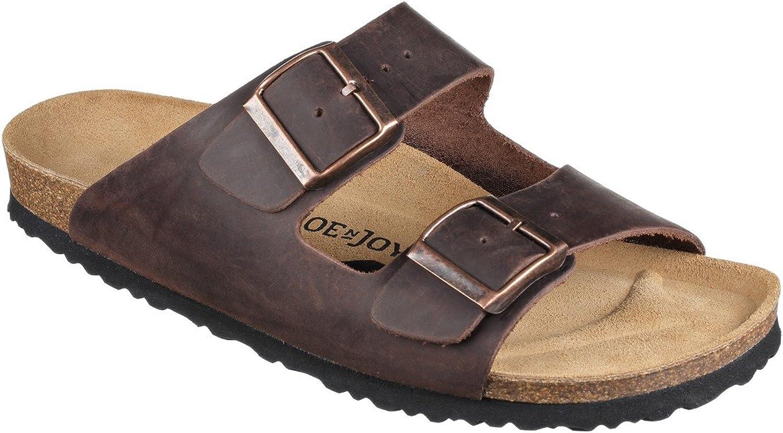 JOE N JOYCE Unisex London Leather Soft Footbed Sandals Width Narrow