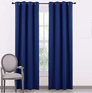 Home Tex Silk BLackoutt Long Eyelet Curtain with 3 Layers Weaving Technology Thermal Insulated Pack of 2 (W 4 Feet X 10 Fe...