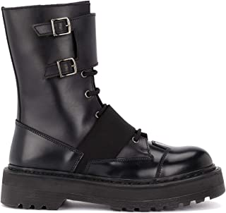 PREMIATA Woman's Amphibious Boot in Black Brushed Leather