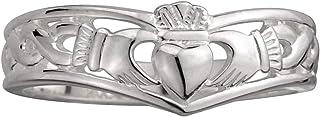 Irish Women - Sterling Silver - Claddagh Wishbone Ring (8)