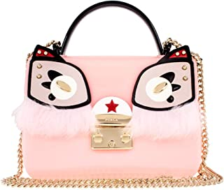 Furla Candy Ginger Ladies Small PVC Crossbody 978624, Rosa Chiaro/ Toni Perla