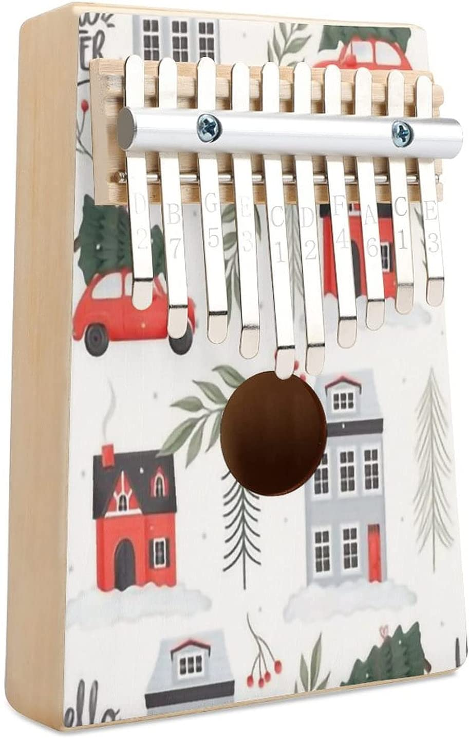 Cozy Town 4 Max 45% OFF Kalimba Thumb Piano 10 San Diego Mall Inst Finger Musical Key