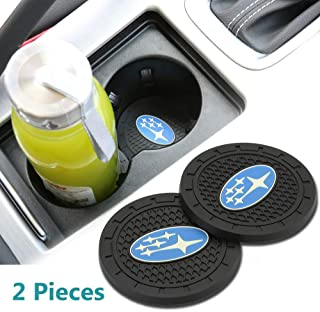 Wall Stickz Auto Sport 2.75 Inch Diameter Oval Tough Car Logo Vehicle Travel Auto Cup Holder Insert Coaster Can 2 Pcs Pack...