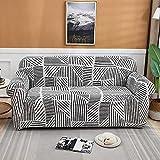 MKQB Funda de sofá Moderna y Sencilla, Antideslizante y Bien Envuelta, Funda de sofá elástica combinada para la Esquina de la Sala de Estar NO.6 M (145-185cm