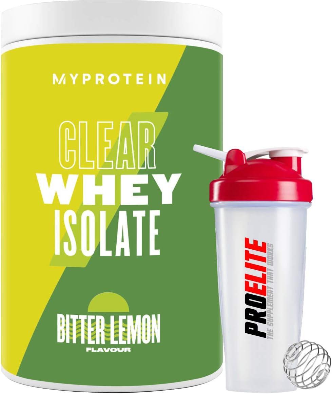 My Protein Clear Whey Isolate Protein 500g My Protein Sabores afrutados + coctelera (limón amargo)
