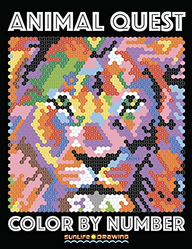 ANIMAL QUEST Color by Number: Activity Puzzle Coloring Book for Adults Relaxation & Stress Relief (Color By Number Quest, Band 1)