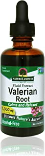 Nature's Answer Alcohol-Free Valerian Root, 2-Fluid Ounces | Natural Sleep Aid | Stress Reliever | Promotes Restful Slumber