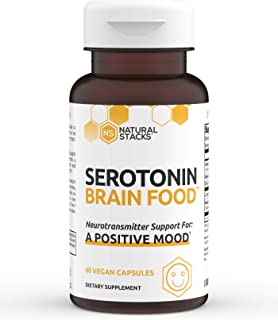 Natural Stacks Serotonin Supplement 60 ct. - Powerful Stress Relief and Mood Booster - for Men and Women - ...