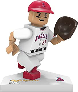 OYO MLB Los Angeles Angels Gen5 Limited Edition of Anaheim Mike Trout Minifigure, Small, White