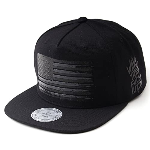 Flipper American Flag Flat Brim Bill Baseball Cap Snapback Hat for Men Women ff2fde730a3d