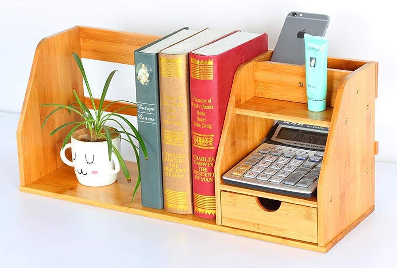 Yunfeng Bookshelf,Floor-Standing Multi-Function Rack Bamboo Solid Wood Desktop Storage Finishing Rack