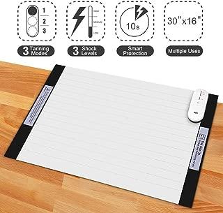 Pet Training Mat - 30 x 16 Pet Shock Mat for Dogs & Cats, 3 Training Mode Shock Mat for Cats & Dogs, Indoor Use Pet Training Pad w/LED Indicator, Flexible Mat
