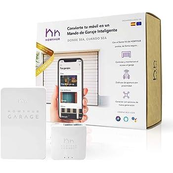 HOMYHUB Starter Kit | Mando a Distancia Garaje WiFi - Mucho más que Abrir Puerta de Garaje con tu Movil y Voz - Controla max 2 puertas por Starter Kit