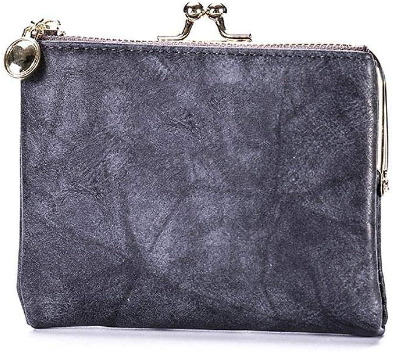 Girls Purse Women's Wallet,Women's Wallet Short Wallet Multifunctional Card Bag Zipper Drawer PU Leather (color   C)