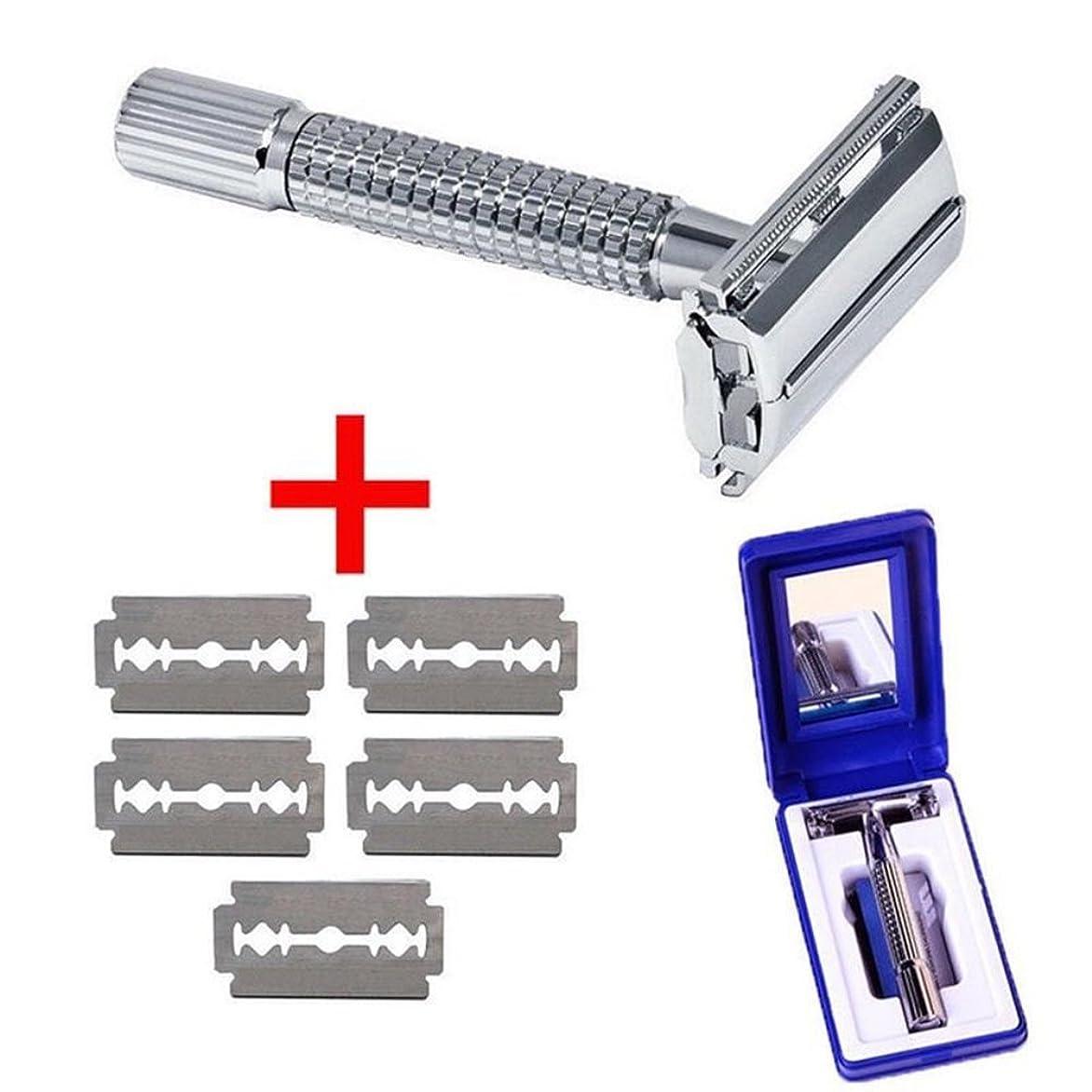 クリエイティブタブレットグッゲンハイム美術館メンズ シェーバー 手動 ステンレス 5枚刃付き 収納ケース/鏡 (手動式)