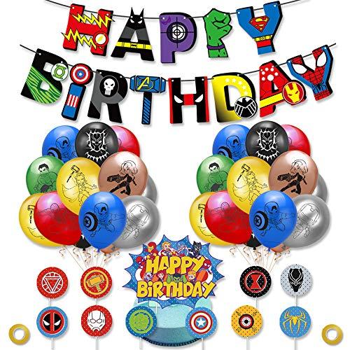 smileh Supereroi Compleanno Palloncini Supereroi Palloncini Avengers Compleanno Supereroe Compleanno Banner Supereroi Cake Topper