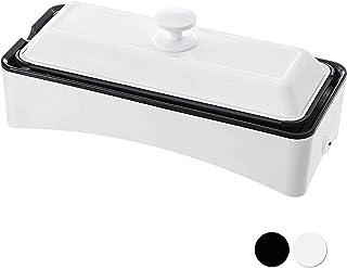 [山善] ホットプレート 2WAY スリム たこ焼きプレート付き YOF-W120(W [メーカー保証1年]