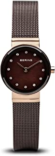 BERING Time 10122-265 Womens Classic Collection Watch with Mesh Band and Scratch Resistant Sapphire Crystal. Designed in Denmark.