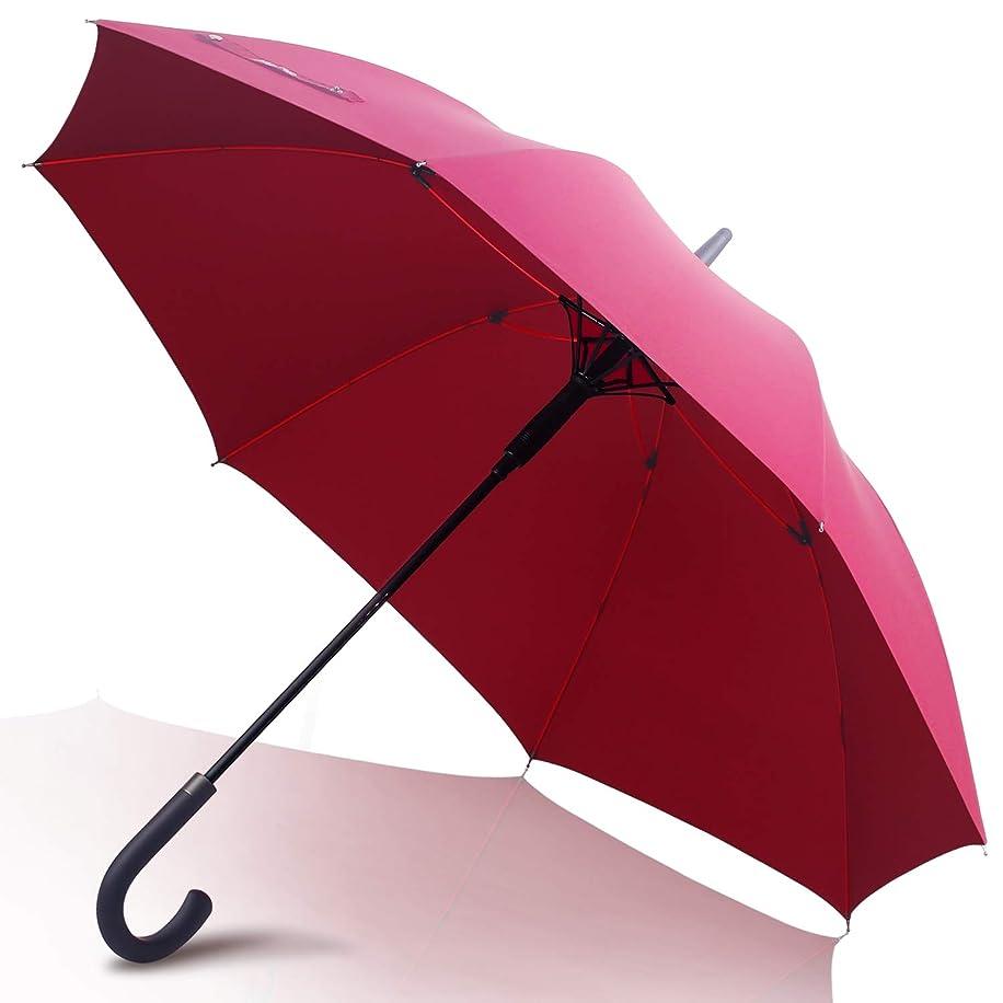 泳ぐレコーダー豚肉Anntrue 傘 レディース 長傘 ワンタッチ式ジャンプ傘 丈夫 撥水 耐風 Teflon加工 210T高強度グラスファイバー 軽量 大型 梅雨対策 晴雨兼用 130cm 収納ポーチ付き 永久保証付き