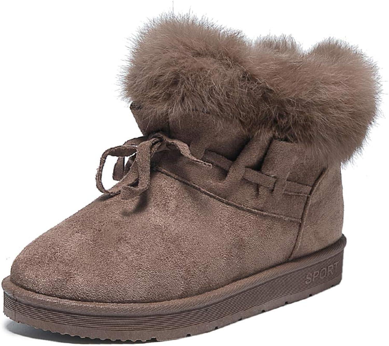 Outdoor Women's Waterproof Snow Flat Ankle Boots Women's Mid-Rise Walk Winter