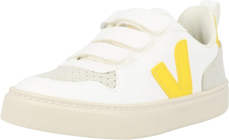 Veja V-10 Velcro (Little Kid/Big Kid) White/Tonic 35 (US 4 Big Kid) M