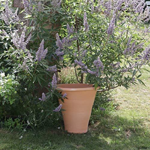Kreta-Keramik Pot de fleurs en terre cuite | 50 cm | Fait main et résistant au gel | Jardinière d'extérieur Pot de fleurs Hibiscus