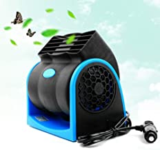 Mini Air Conditioner Portable, Portable 12V 7W Electric Car Leafless Fan Silent Cooling Fan Car Fan Summer Cooling Air Cir...