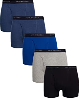 Men's 5 Pack Cotton Boxer Brief with Functional Fly
