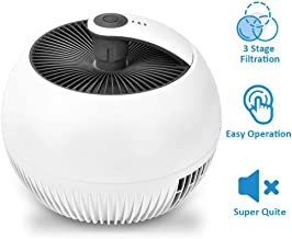 Air Purifiers - 3-in-1 True HEAP Air Purifier with 3 Filtration Systems, Quiet Operation, 3 Modes, Portable Air Cleaner for Home & Office, Reduce Dust Particles, Pet Dander, Pollen,Odor Eliminator