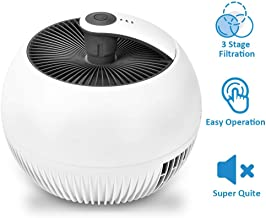 Air Purifier for Home - 3-in-1 True HEAP Air Purifier with 3 Filtration Systems Quiet Operation 3 Modes Portable Air Cleaner for Home & Office Reduce Dust Particles Pet Dander Pollen Odor Eliminator