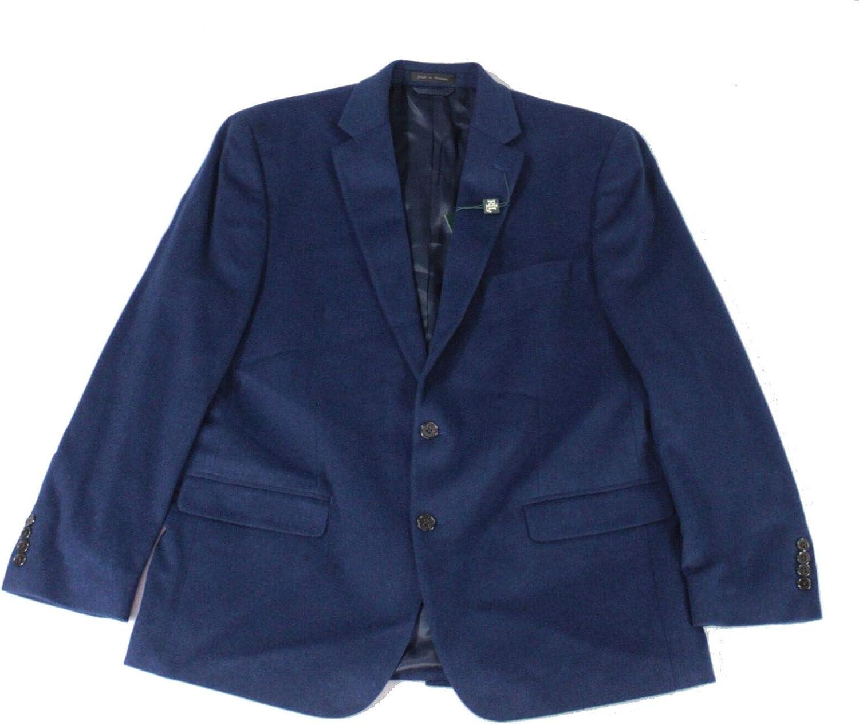 Lauren by Ralph Lauren Mens Blazer Two-Button Wool Blue 48