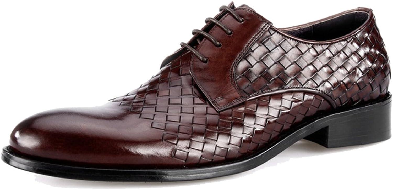 MERRYHE Round Toe Business Kleid Weben Echtem Leder Schnürschuhe Schuhe Hochzeit Schuh Derby Für Party Arbeit Geschenke