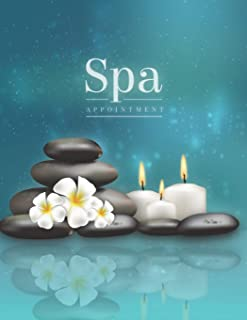 Spa Appointment: Undated 52 Weeks Daily Schedule Appointment Planner Organizer 15 Minute Increments Monday to Sunday with 8 AM - 9 PM  and Records Income, Expenses, Finance Tracking Workbook
