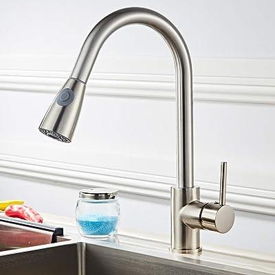 Tenozek All Copper Kitchen Pull Faucet