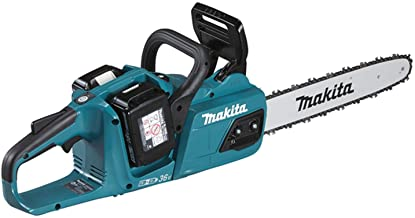 Makita DUC355PT2 Twin 18V (36V) Li-ion LXT 35cm Brushless Chainsaw Complete with 2 x 5.0 Ah Batteries and Twin Port Charger