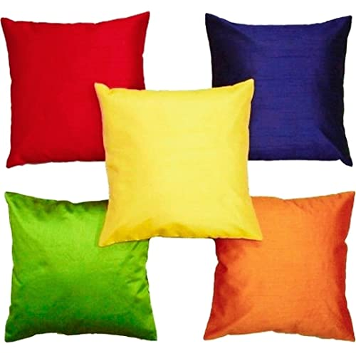 """Czar Home Multicolor Cushion Covers 12"""" x 12"""" Set of 5 (Small)"""