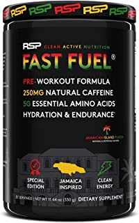 RSP NUTRITION Fast Fuel Pre Workout Powder, Complete Energy, Hydration And Endurance Support, Natural Caffeine, Eaas, Elec...