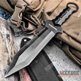 Tactical Knife Hunting Knife Survival Knife 12 Inch Full Tang Fixed Blade Knife Razor Sharp Edge Camping Accessories Camping Gear Survival Kit Survival Gear Tactical Gear 77947 (Black)
