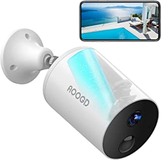 AOOGD Battery-Powered Wireless Security Cameras for Home Security, Security Camera Outdoor with PIR Human Motion Detectio...